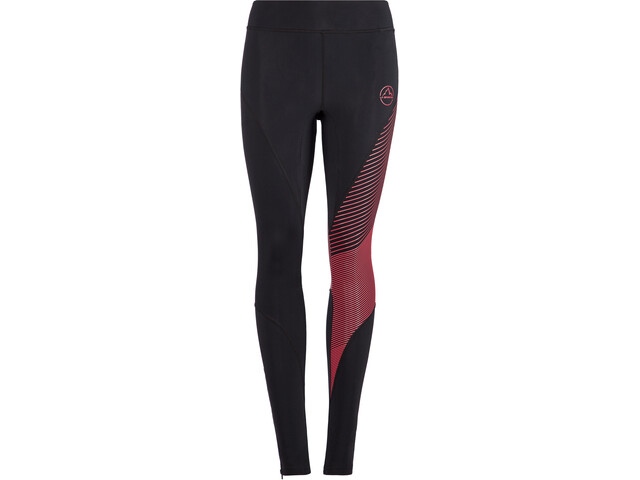 La Sportiva Supersonic Pantalon Femme, black/hibiscus